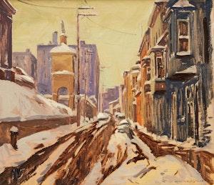 Artwork by Arto Yuzbasiyan, Rue d'Aiguillon, Quebec