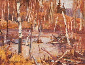 Artwork by Maurice Hall Haycock, Small Beaver Pond in Algonquin Park