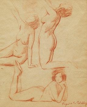 Artwork by Regina Seiden, Three Nudes