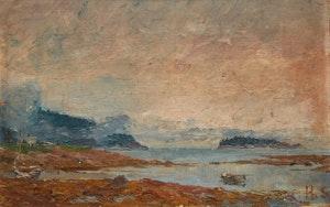 Artwork by Henry Sandham, Shoreline Landscape