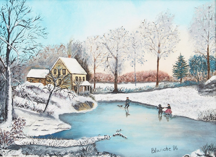 Artwork by Blanche Bolduc,  Skaters