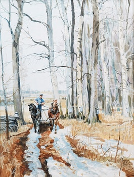 Artwork by Peter Etril Snyder, Ploughing, Winter