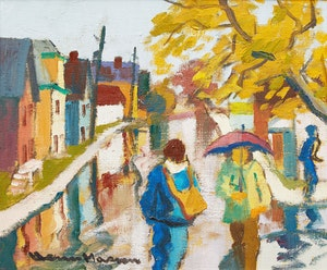 Artwork by Henri Leopold Masson, Autumn Rain, Hull, Que.