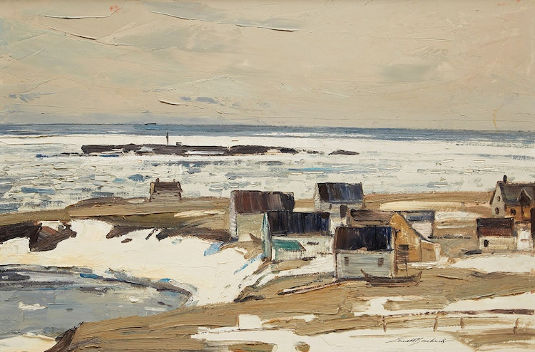 Artwork by George Lorne Holland Bouchard,  Spring, Point St. Peters, Gaspé Coast