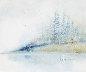 Artwork by Marjorie Pigott, Winter Series #1
