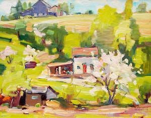 Artwork by Bernice Fenwick Martin, Summer Landscape with House