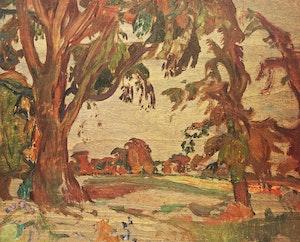 Artwork by Frederick Horsman Varley, Doon, Ontario; Tree Pattern, Kootenay Lake, B.C.; Mists over Lyon, B.C.; Mountain Portage; Dead Tree, Garibaldi Park; The Lions, B.C.