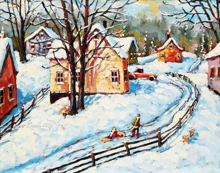 Artwork by Rod Charlesworth,  Winter Light, Bare Trees