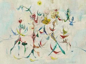 Artwork by William John Bertram Newcombe, Dance of the Weeds