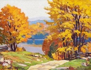 Artwork by Herbert Sidney Palmer, Orange and Gold, Haliburton