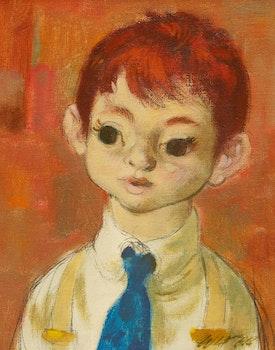 Artwork by William Arthur Winter, Young Boy
