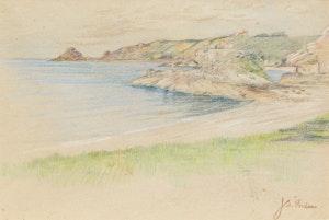 Artwork by John Sloan Gordon, Bouley Bay, Jersey Coast