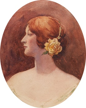 Artwork by Attributed to John Sloan Gordon, Profile Study of a Young Woman