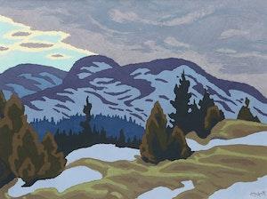 Artwork by Edwin Headley Holgate, Snow Clouds
