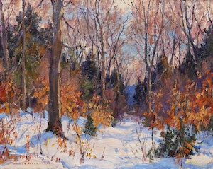 Artwork by Manly Edward MacDonald, Forest in Winter
