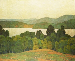 Artwork by Alfred Joseph Casson, Lake Kashagawigamog