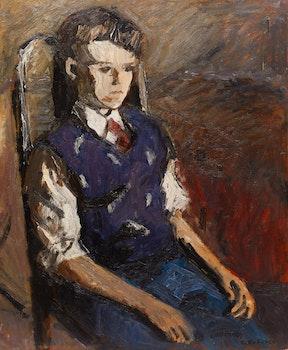 Artwork by William Goodridge Roberts, Seated Boy