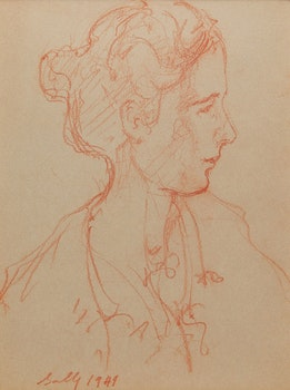 Artwork by Manly Edward MacDonald, Sally (Portrait of the Artist's Daughter)