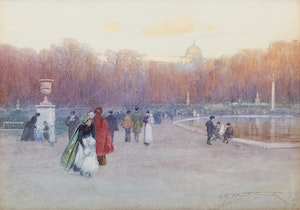 Artwork by Frederic Marlett Bell-Smith, City Park
