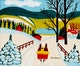 Thumbnail of Artwork by Maud Lewis,  Winter Sleigh Scene