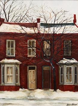 Artwork by John Kasyn, King Street South, Hamilton