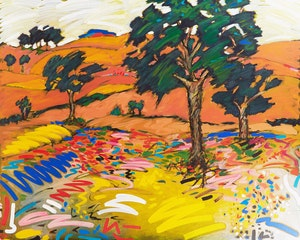Artwork by Yehouda Chaki, Landscape 1053