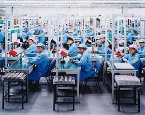 Artwork by Edward Burtynsky, Manufacturing #15, Bird Mobile, Ningbo, Zhejiang Province, China, 2005