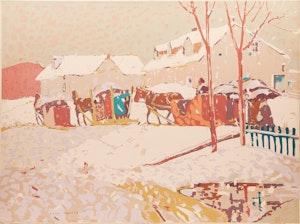 Artwork by Albert Henry Robinson, Return from Easter Mass