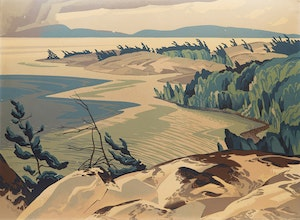 Artwork by Alfred Joseph Casson, Fisherman's Point