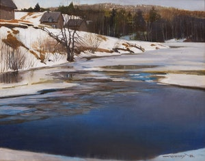 Artwork by Frank Charles Hennessey, Pickanock River