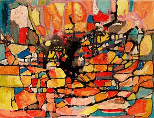 Artwork by Jean Richards, Abstract of a City