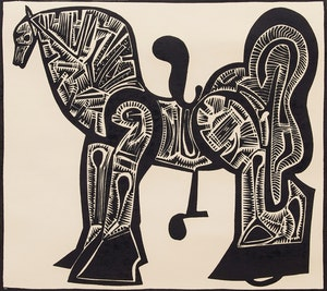 Artwork by Harold Barling Town, Toy Horse