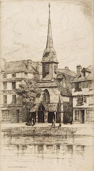 Artwork by Caroline Helena Armington, Museé du Vieux Honfleur; Le Grand Canal Venise; La Cathédrale de Chartres; La Cathedrale de Tours
