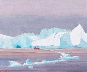 Artwork by Charles Anthony Law, Glacier of Jakobshaven, Greenland