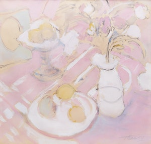 Artwork by Peter Alfred Harris, The Pink Tablecloth
