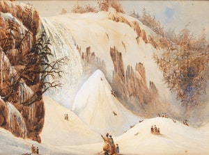 Artwork by George Russell Dartnell, Falls of Montmorency, St. Lawrence c. 1838