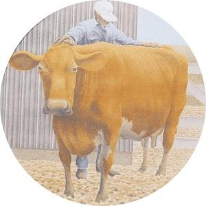 Artwork by David Alexander Colville, Prize Cow
