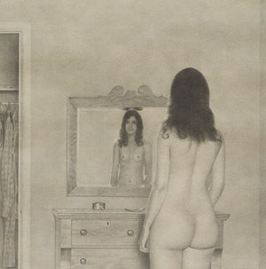 Artwork by Jack Chambers, Nude No. 1