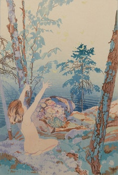 Artwork by Walter Joseph Phillips, Summer Idyll