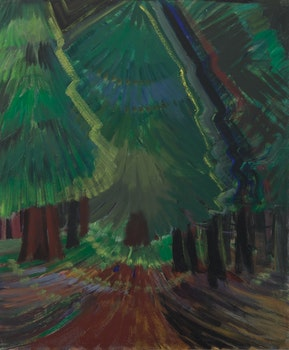 Artwork by Emily Carr, Forest Glade (Dark Glade)