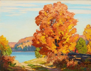 Artwork by Herbert Sidney Palmer, Road to the Lake, Haliburton