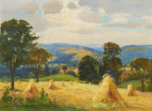 Artwork by Frank Shirley Panabaker, Haystooks