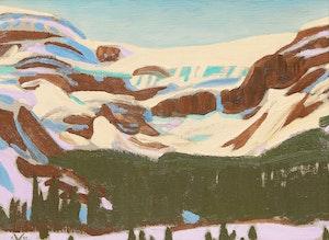 Artwork by Illingworth Holey Kerr, Bow Glacier, Spring