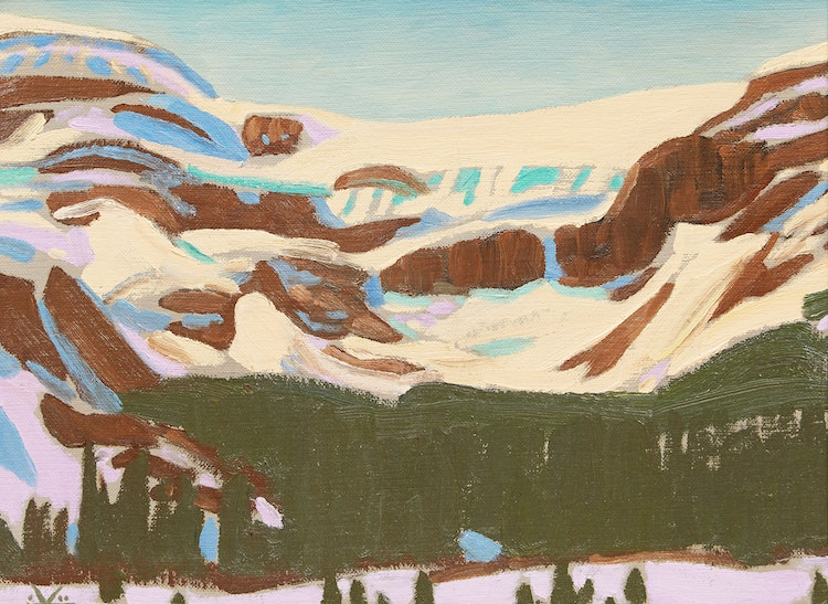 Artwork by Illingworth Holey Kerr,  Bow Glacier, Spring