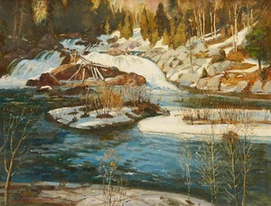 Artwork by Frank Shirley Panabaker, Spring Thaw