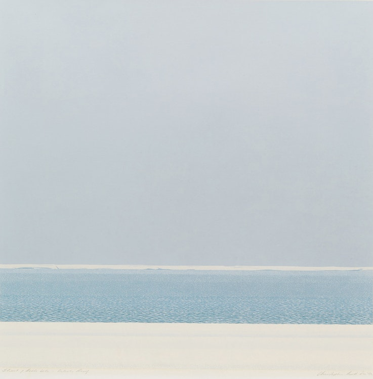 Artwork by Christopher Pratt,  Strait of Belle Isle