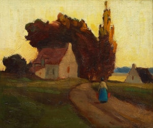 Artwork by John Young Johnstone, Country Road