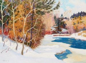 Artwork by Robert Wakeham Pilot, Winter, Laurentians