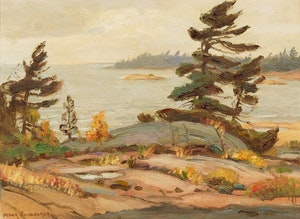 Artwork by Frank Shirley Panabaker, Gray Day - Georgian Bay