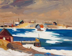 Artwork by Louis Tremblay, By the Harbour